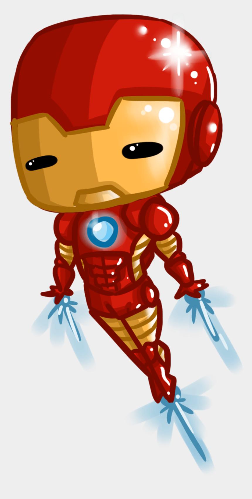 iron man clipart, Cartoons - Iron Man Tony Stark Chibi - Cute Iron Man Clipart