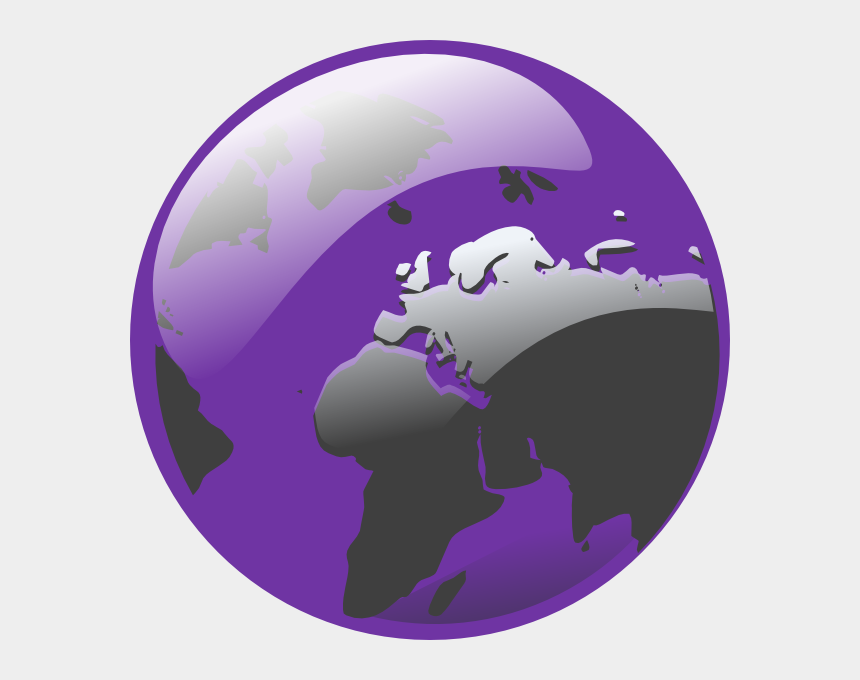 earth clipart images, Cartoons - Purple Earth Clip Art - Globe Transparent Background Png