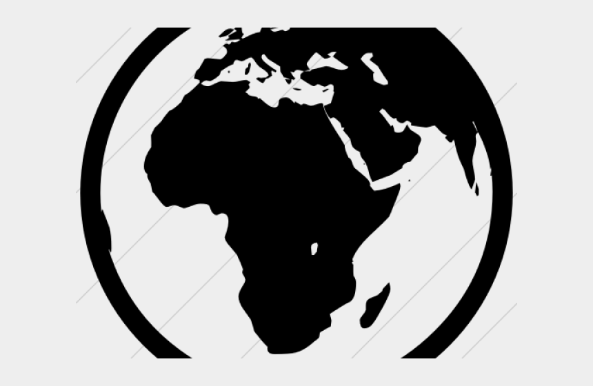 earth clipart black and white, Cartoons - Earth Clipart Europe - Africa And Middle East Map Grey