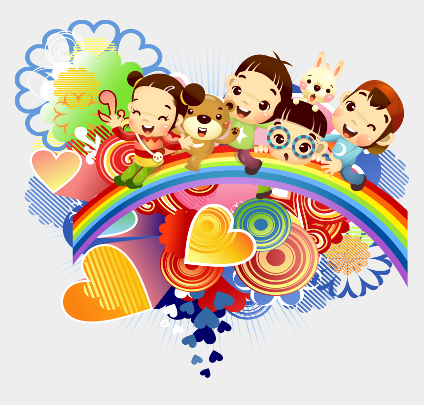 happy children clipart, Cartoons - Children S Cute Cartoon Element Transprent Png Ⓒ - Cute Children's Day