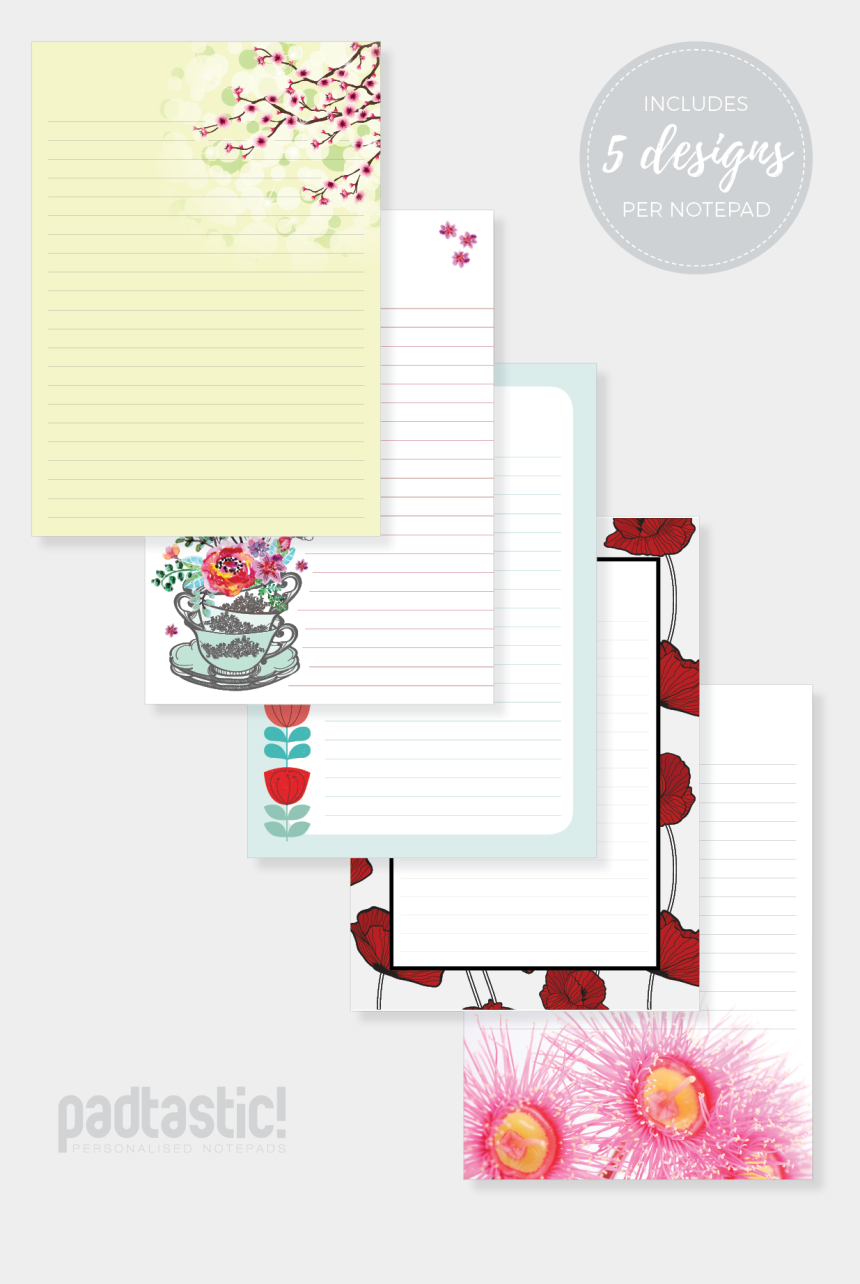 notepad clipart, Cartoons - Flowers Mixed Design Padtastic Ⓒ - Floral Design