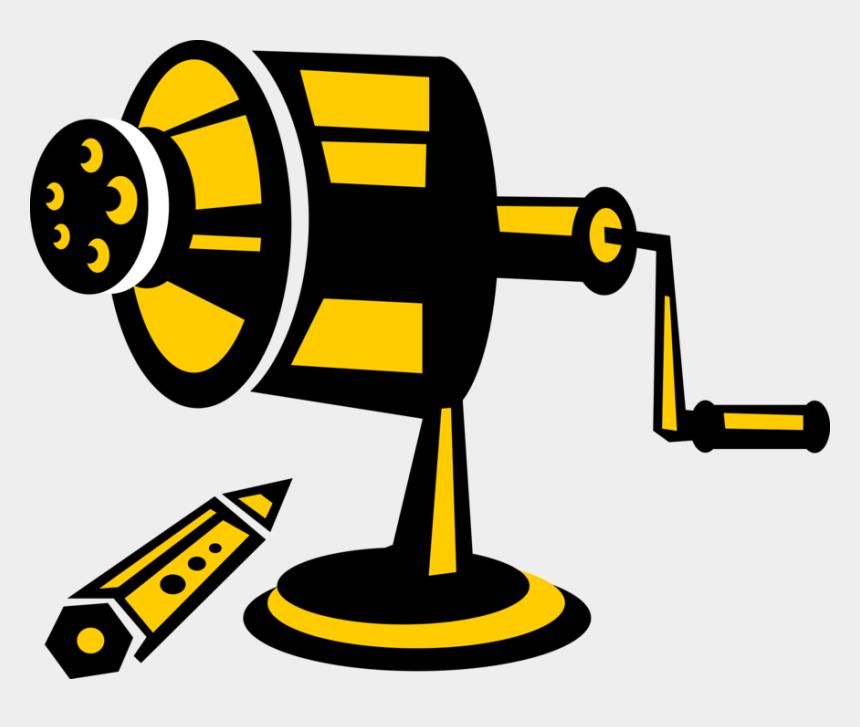pencil sharpener clipart, Cartoons - Vector Illustration Of Writing Instrument Pencil Sharpener