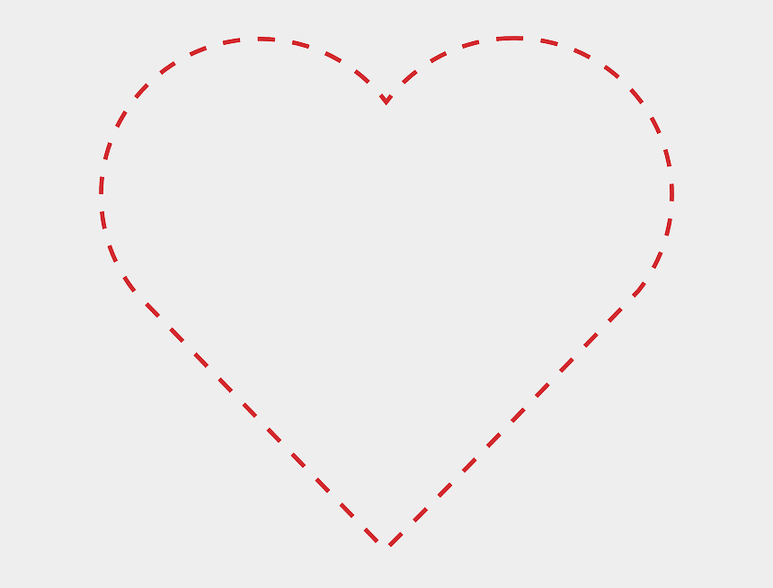 dotted line clipart, Cartoons - Heart Outline Dotted - Dotted Line Heart Transparent