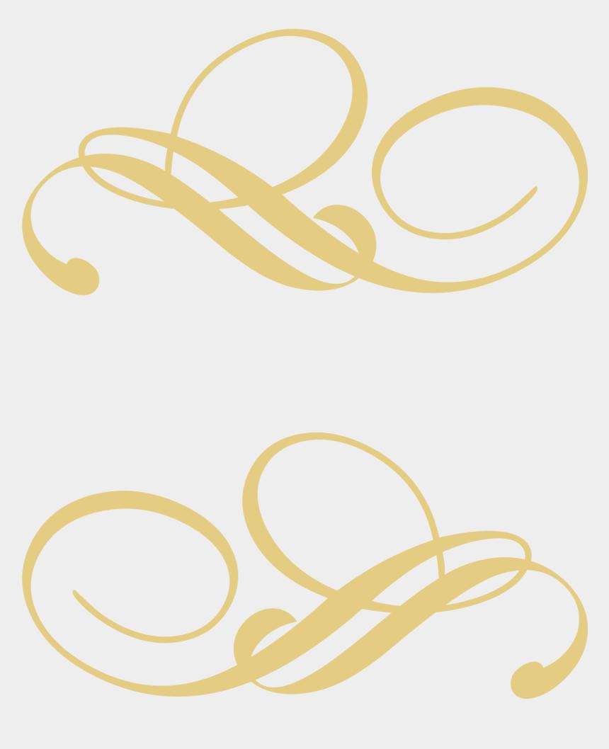 decorative line clipart, Cartoons - Decorative Line Gold Png - Gold Decorative Lines Png