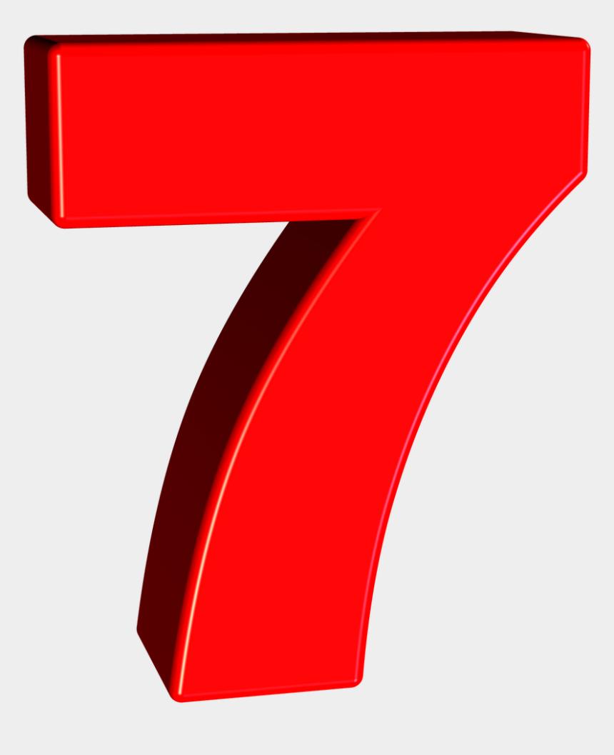 number line clipart, Cartoons - Download Number 7 Png Transparent Images Transparent - Red Number 7 Png