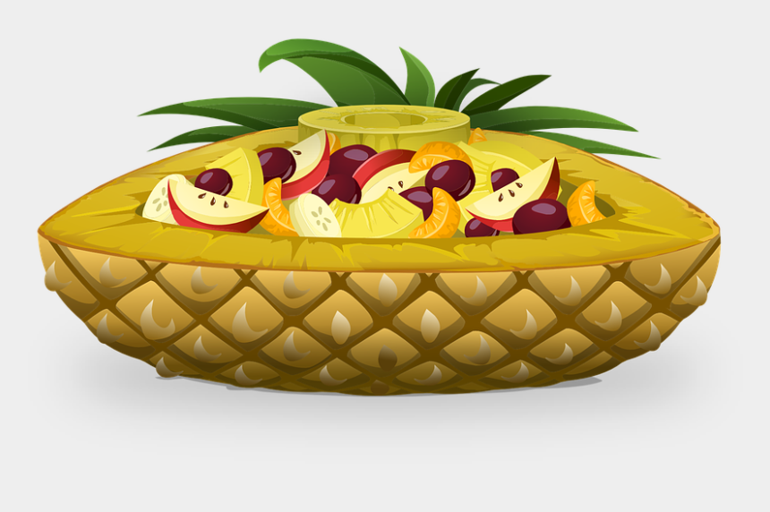 fruit salad clipart, Cartoons - Pineapple Boat, Fruits, Salads - Sala De Fruits Dessin