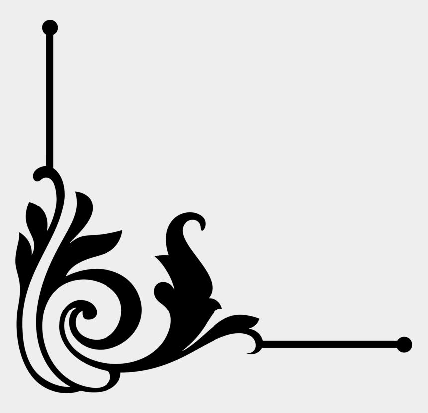 decorative line clipart, Cartoons - Decorative Borders Borders And Frames Decorative Arts - Corner Clipart