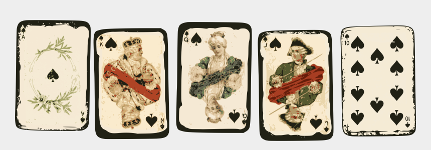 playing cards clipart, Cartoons - Playing Cards - Vintage Royal Playing Cards