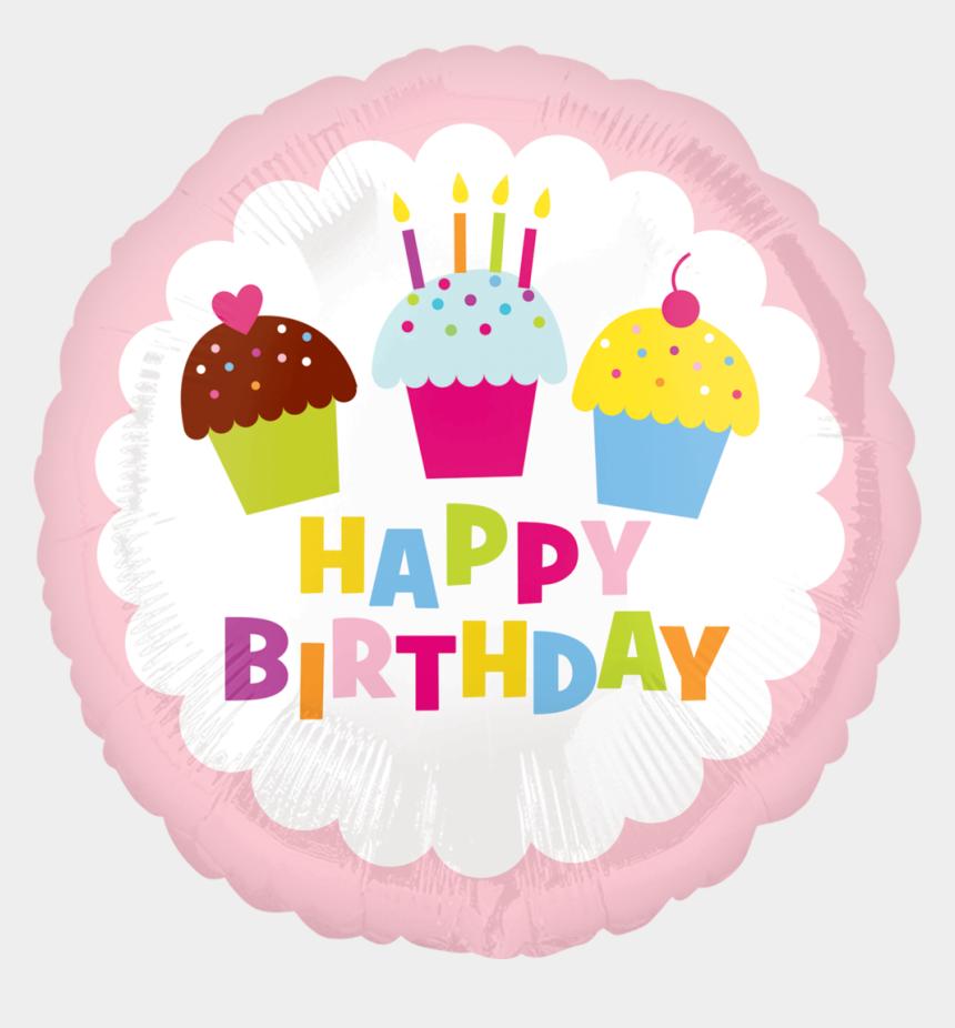 clipart birthday cake and balloons, Cartoons - 32692 18″ Happy Birthday Cupcake - Birthday Party