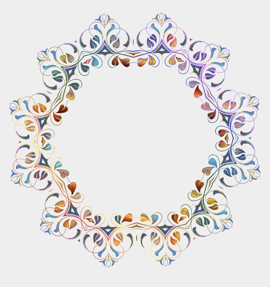 birthday border clipart, Cartoons - Floral Flourish Frame - Flower Frame Background Transparent