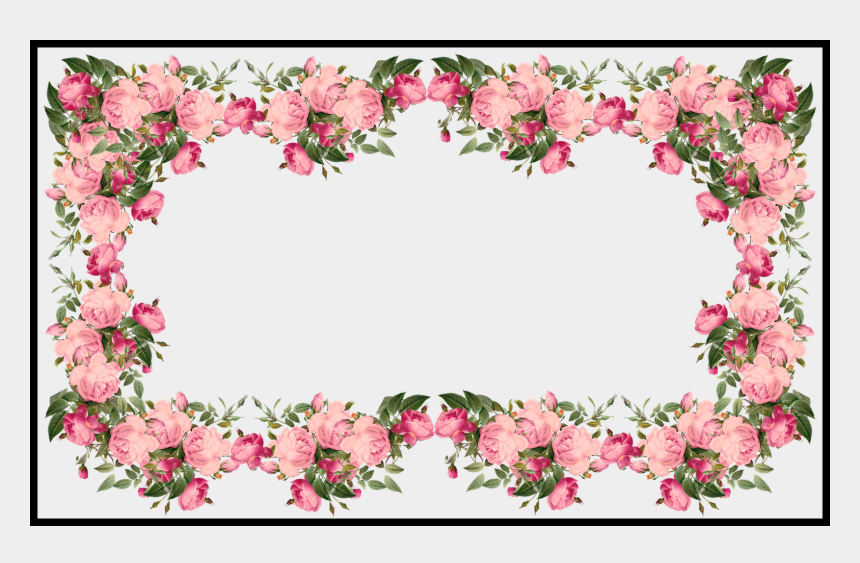 pink border clipart, Cartoons - Awesome Vintage Pink Frames And Border Png U Pics For - Decorative Border Design Flower