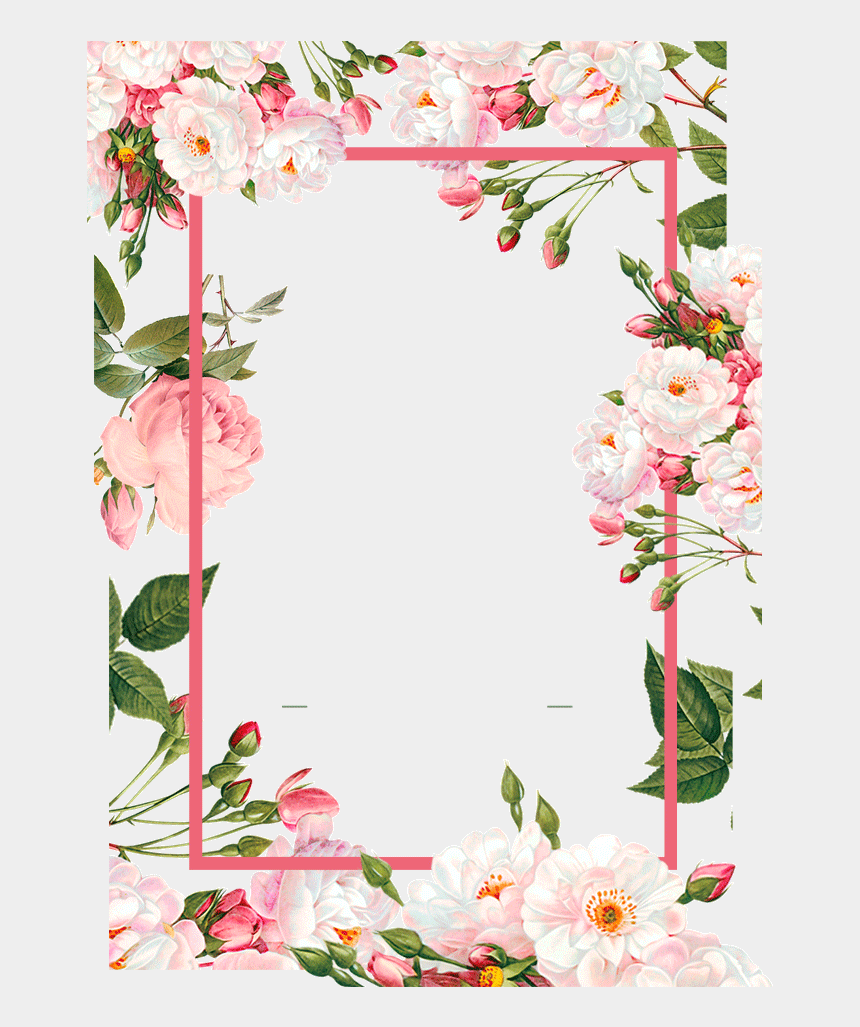 pink border clipart, Cartoons - Pink Borders Flower Free Png Hq - Floral Frames Vector Png