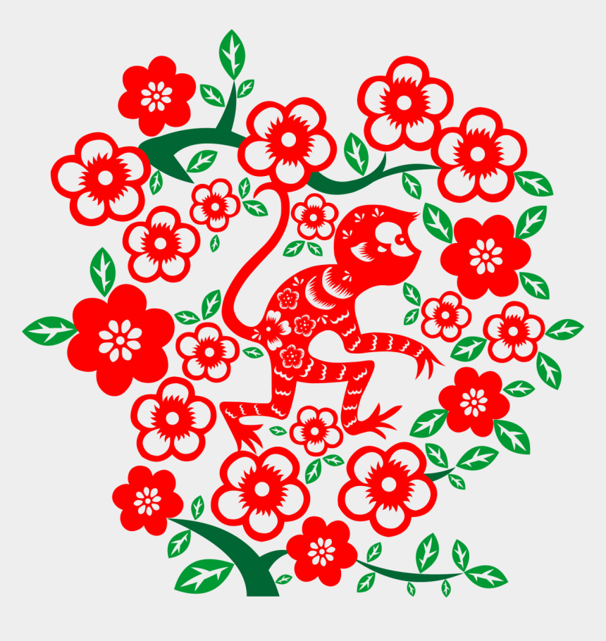chinese new year 2017 clipart, Cartoons - Chinese New Year Paper Cut Out