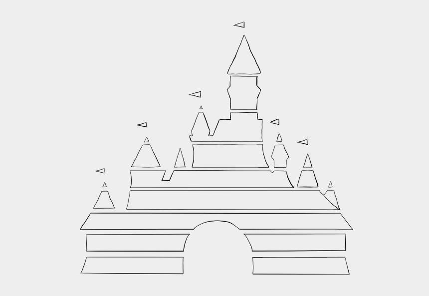 cinderella castle clipart, Cartoons - Disney Castle Outline Png - Disney Castle Logo White
