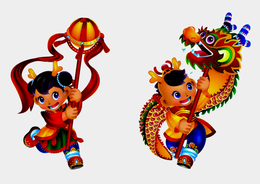 chinese new year clipart, Cartoons - Dragon Dance Lion Dance Chinese New Year - Chinese New Year Lion Dance Png
