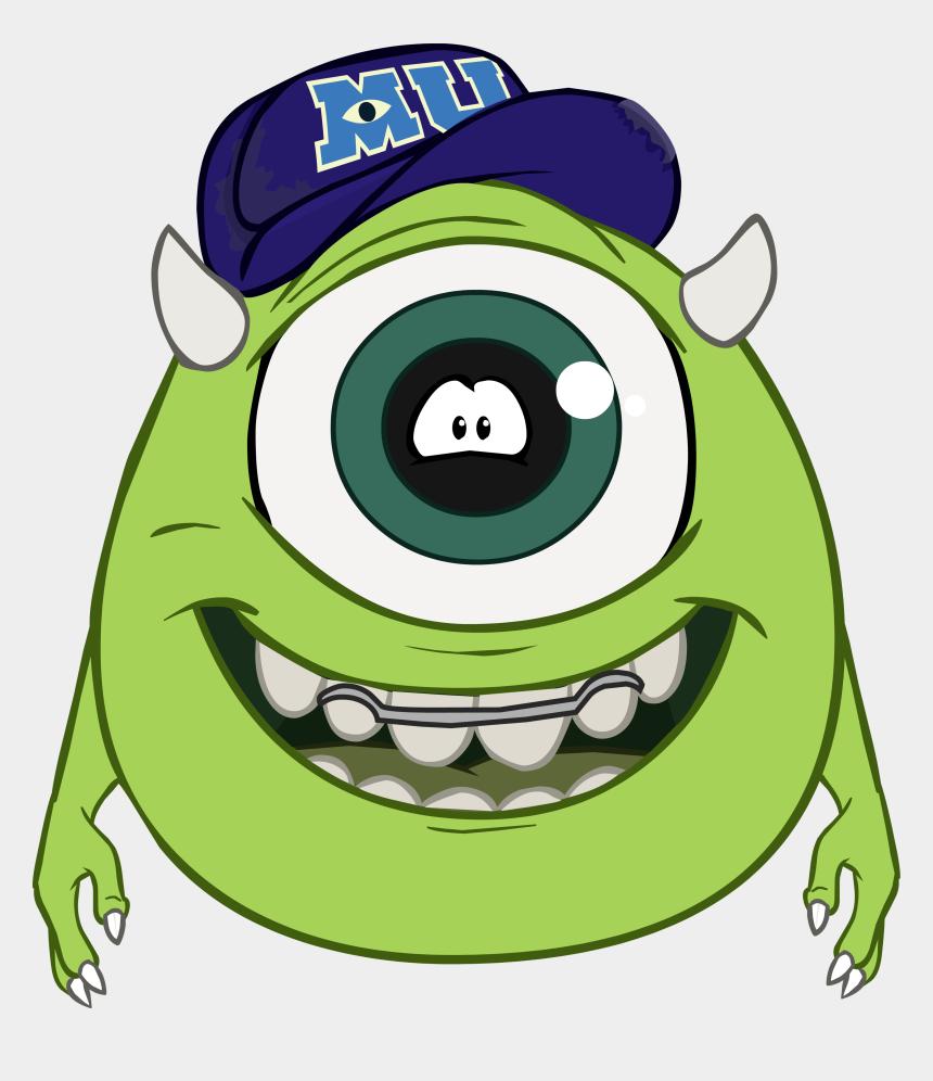 university clipart, Cartoons - Monsters University Clipart Eye - Monsters Inc Mike Wazowski Penguin