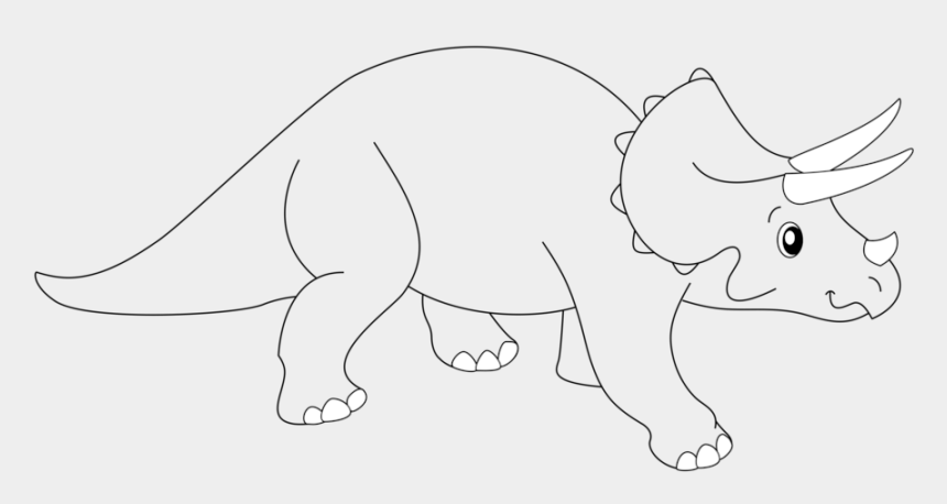 easy clipart drawings, Cartoons - Triceratops Clipart Easy Draw - Triceratops Line Art