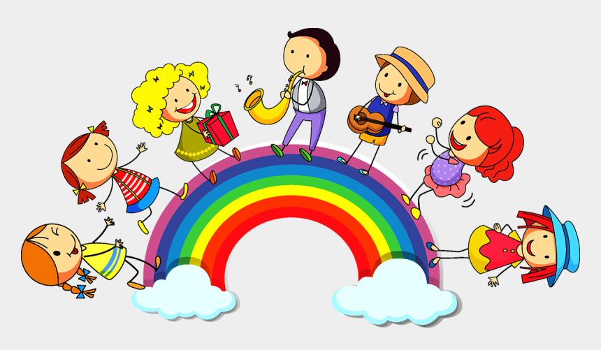 clipart trauer, Cartoons - Die Melodie Ordnet Töne Linear An, Die Harmonie Lässt - Rainbow Children Png