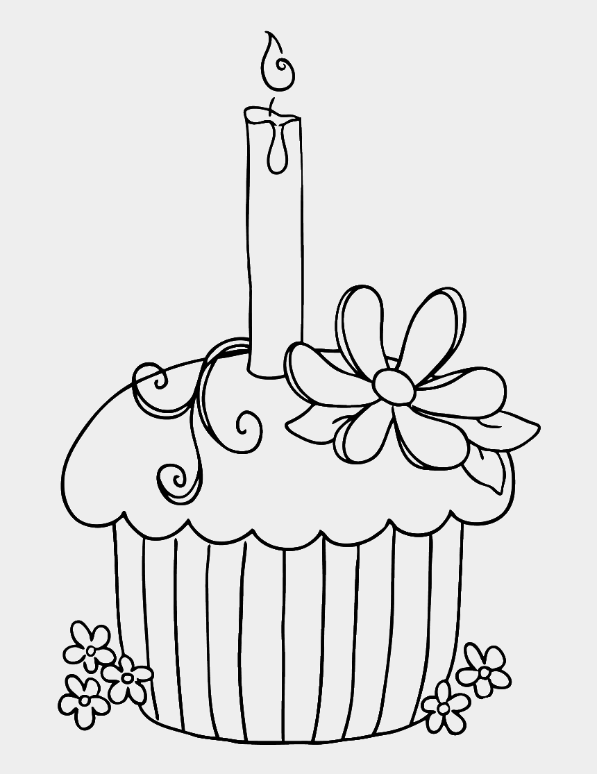 geburtstagstorte clipart, Cartoons - View Larger - Happy Birthday Cupcake Coloring Pages