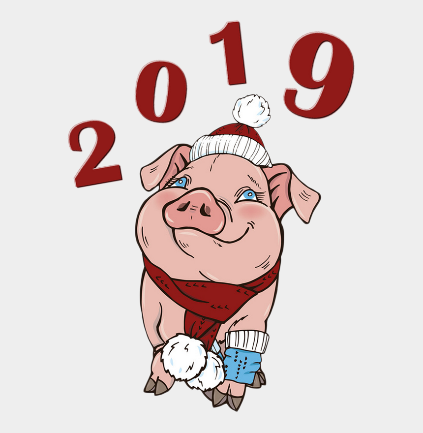 Annee Du Porc Cochon Png Tube Happy New Year 2019 Vector Free Cliparts Cartoons Jing Fm
