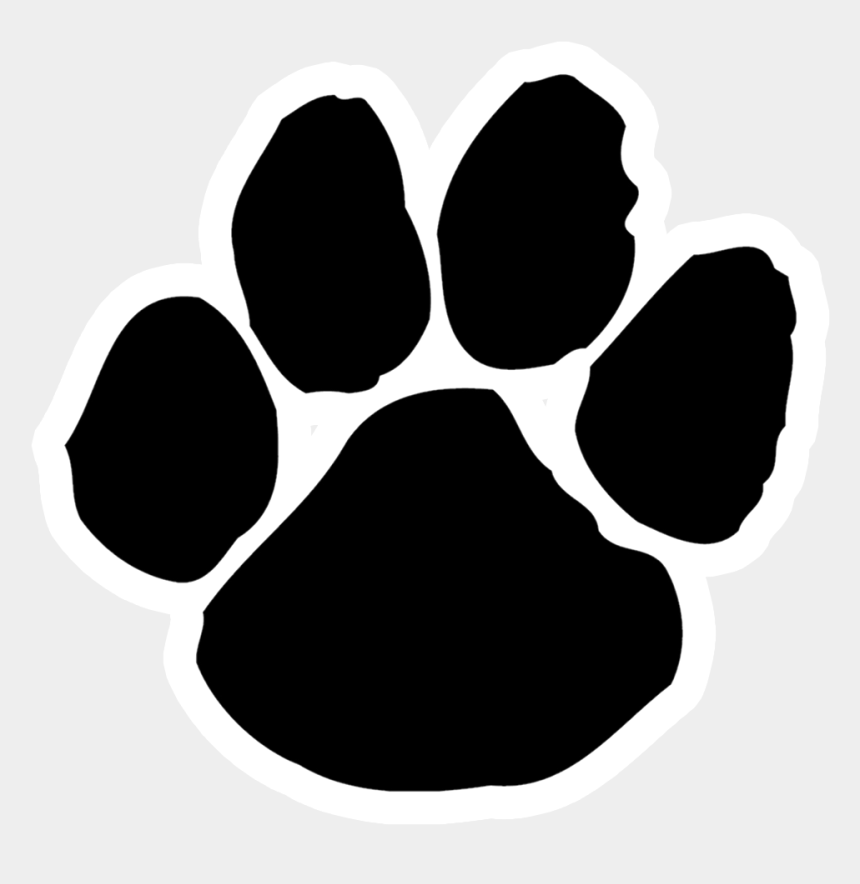 panther paw clipart, Cartoons - Alabama Hs Team Preview - Tiger Paw Print Clipart