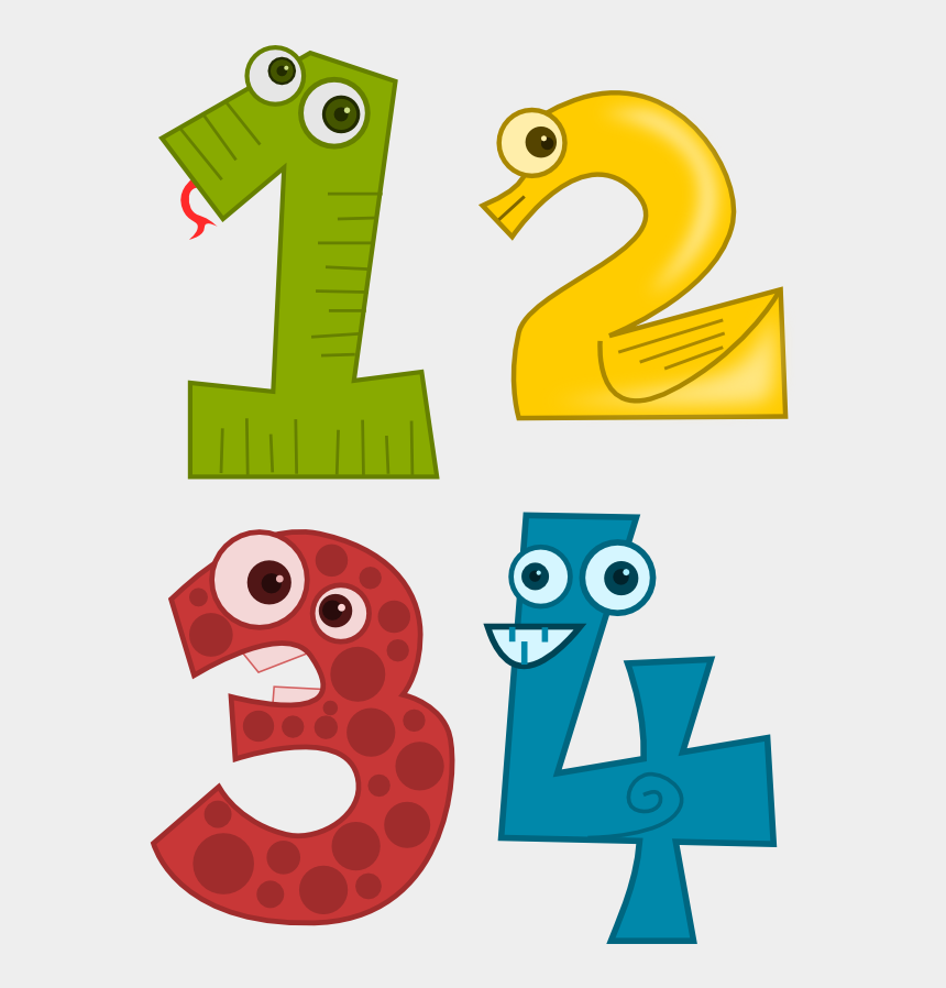 pre k clipart, Cartoons - Numbers Clipart Pre School - Animal Number 1 Png