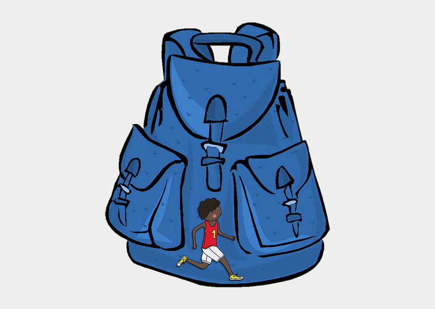 school bag clipart, Cartoons - Backpack, Bag, School, Hike, Healthy - Transparent Background Backpack Animated