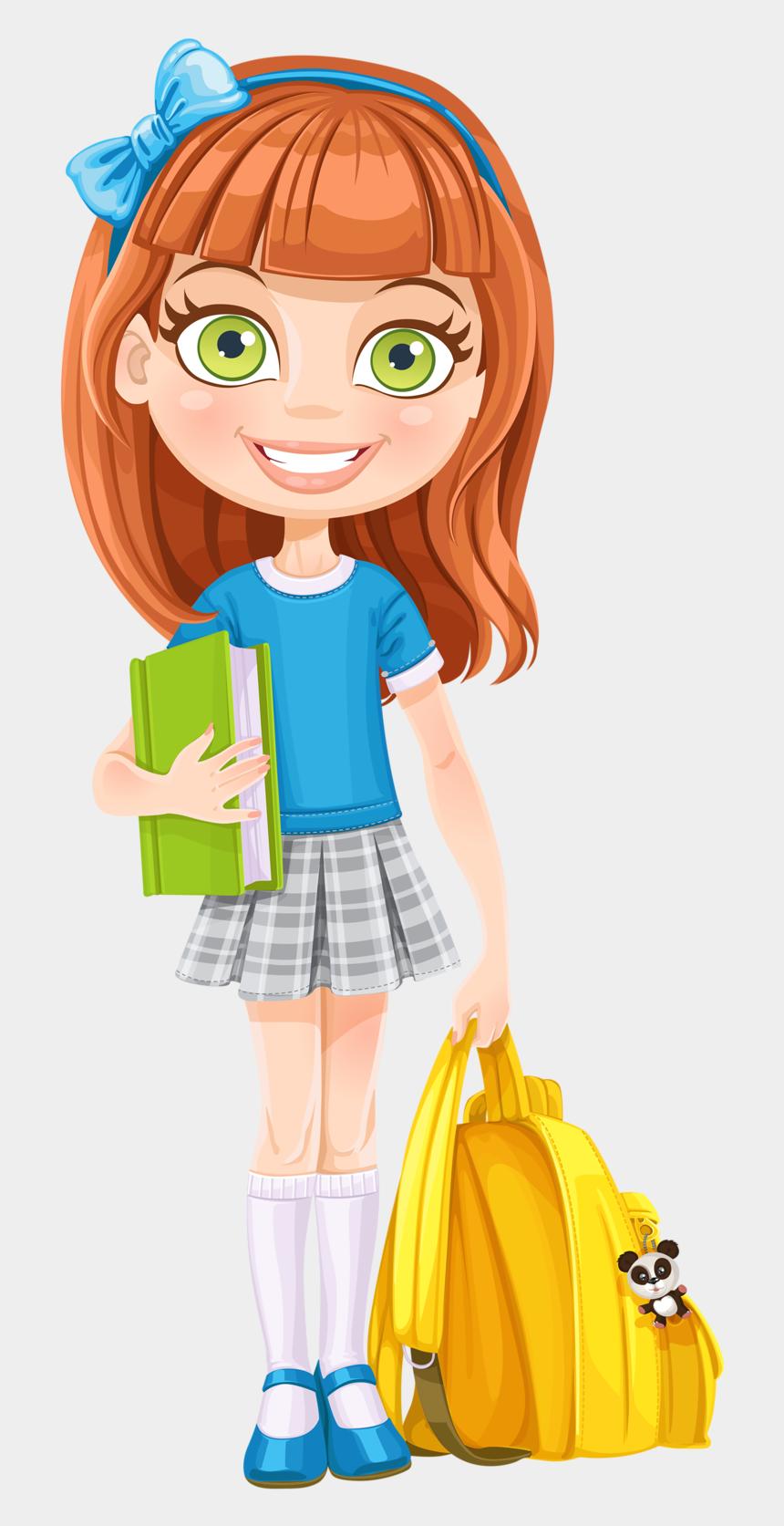 go to school clipart, Cartoons - Escola & Formatura Girl Clipart, Cute Clipart, Cartoon - School Girl Clipart Transparent