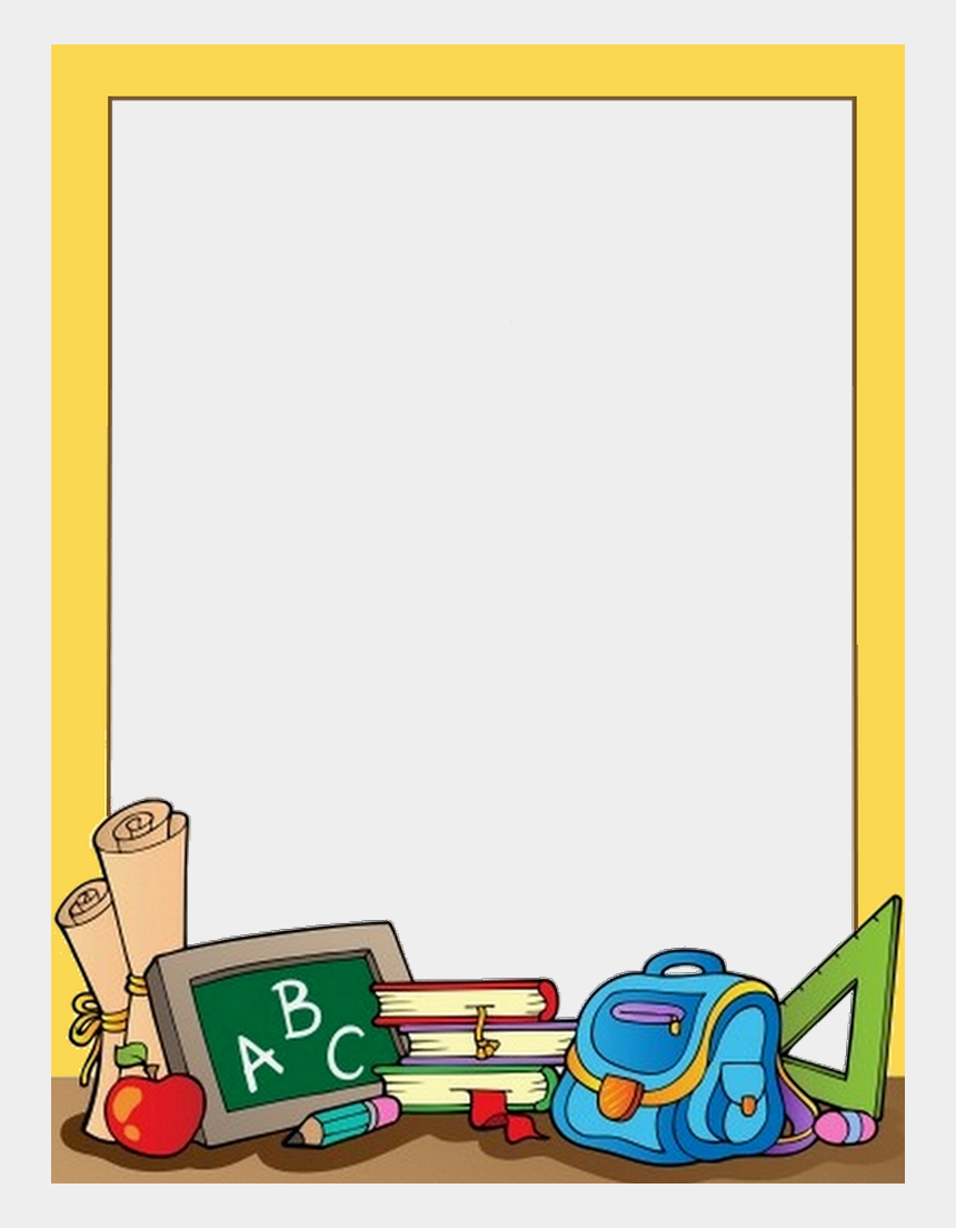 school background clipart, Cartoons - Borders For Paper, Borders And Frames, School Border, - School Supplies Border Clipart