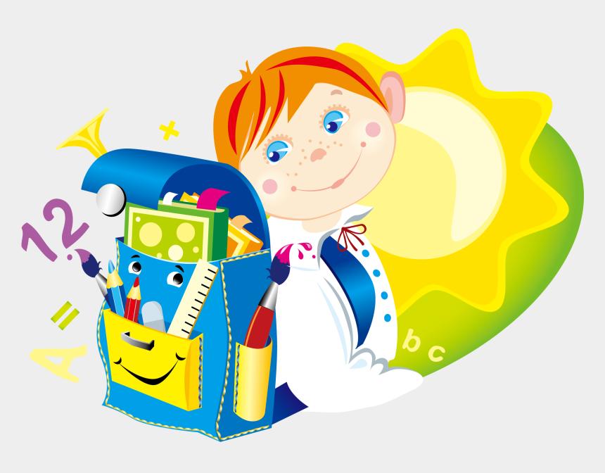 school kids clipart, Cartoons - Vector Hand-drawn Cartoon School Kids - School Children Cartoon Hd Png