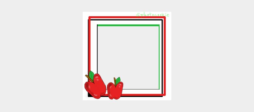 teacher apple clipart, Cartoons - #frame #drawing #teacher #apple