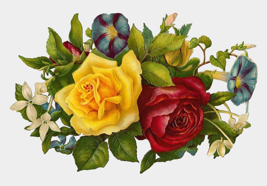 clipart ostern kostenlos, Cartoons - Vintage Flower Clipart Church Flower - Happy Birthday Bouquet Gif