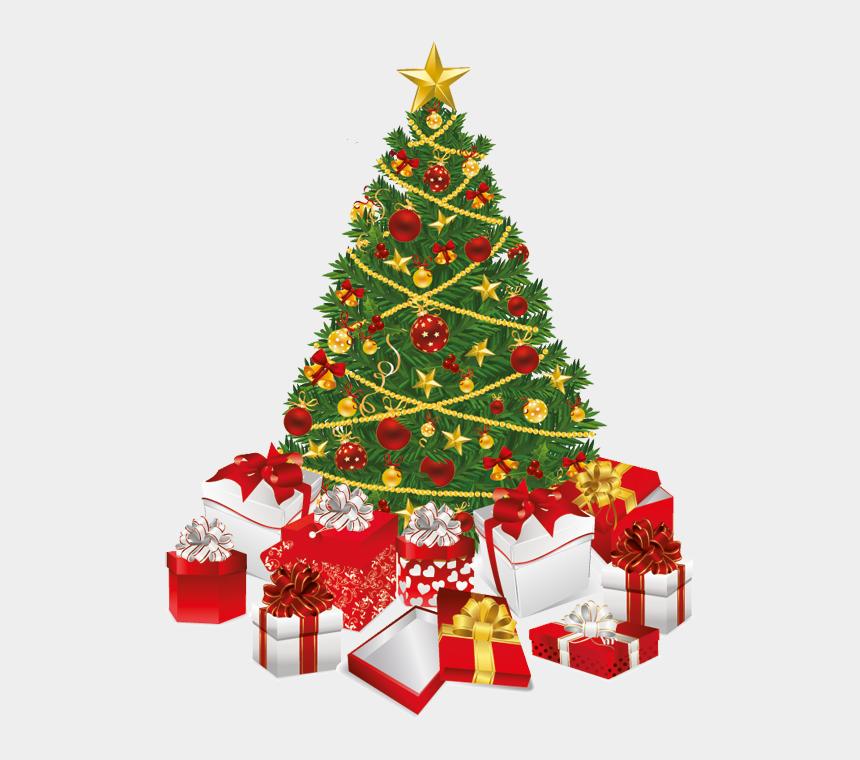 kostenlose cliparts weihnachten, Cartoons - Christmas Tree And Gift