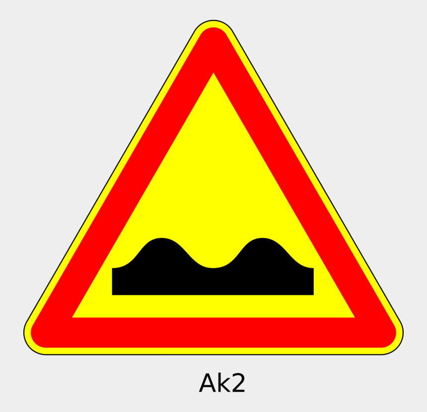warning sign clipart, Cartoons - Traffic Sign Speed Bump Warning Sign Road - Road Signs Bumpy Road