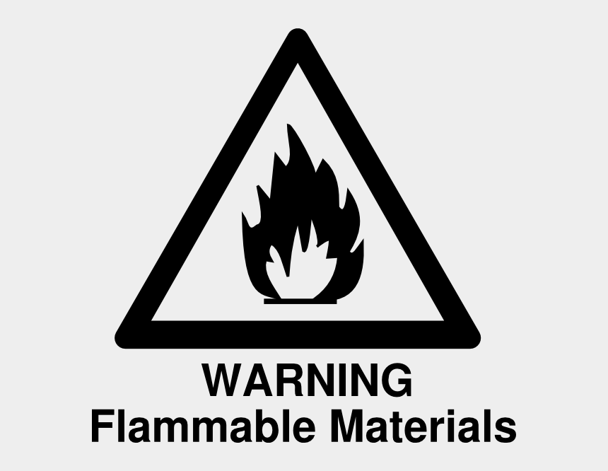 warning clipart, Cartoons - Flammable Warning Clip Art - Flammable Sign Black And White