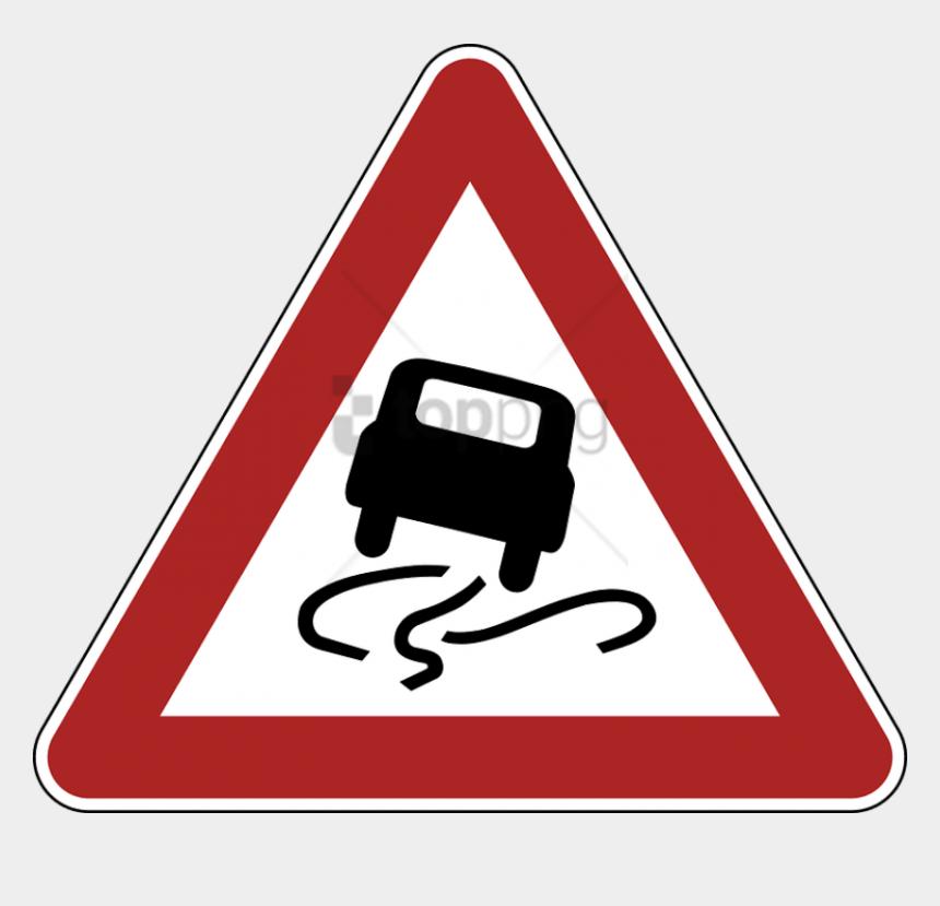 warning sign clipart, Cartoons - Slippery Road Warning Sign - German Traffic Signs Slippery Road