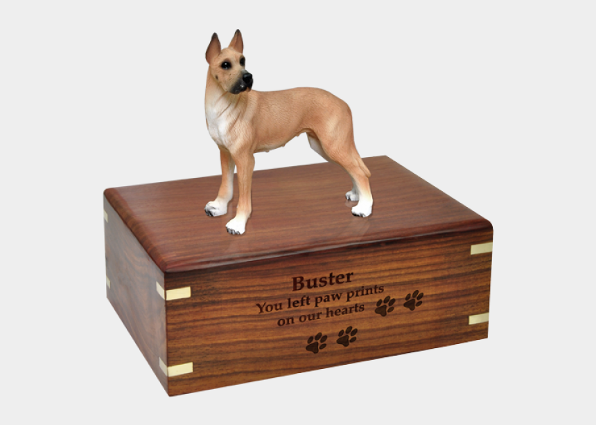 great dane clipart, Cartoons - Great Dane Fawn Wood Urn For Pet Dog W/ Breed Figurine - Dog Cremation