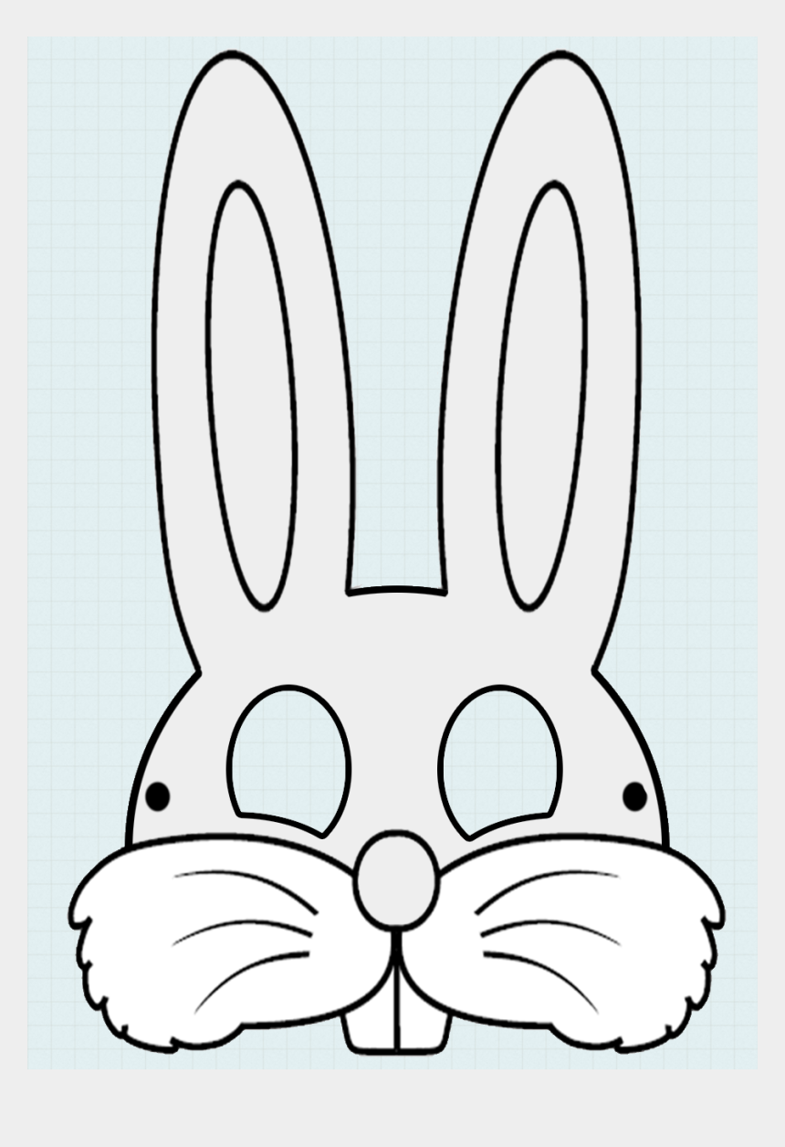 graphic about Printable Bunny Mask named Rabbit Deal with Mask Template Clipart Easter Bunny Mask - Easter