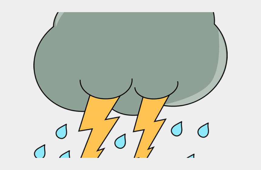 storm cloud clipart, Cartoons - Clipart Thunderstorm And Rain
