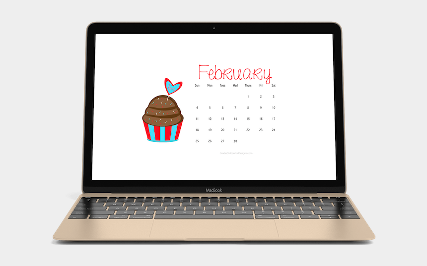 february calendar clipart, Cartoons - February 2018 Free Calendars For Your Desktop Or Phone - Personal Graphic Designer Website