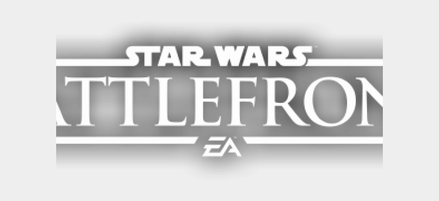 star wars clipart black and white, Cartoons - Star Wars Battlefront Clipart Battlefront Logo - Star Wars Battlefront 2 White Logo