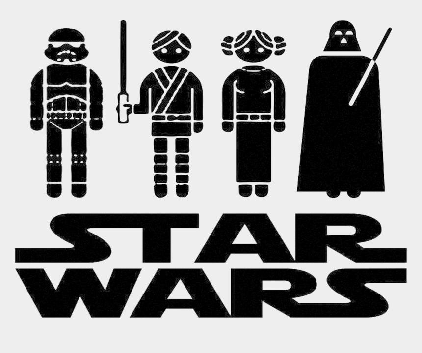 "star wars clipart black and white, Cartoons - Right-click This Link And Choose ""save As"" For Png - Star Wars Free Svg"