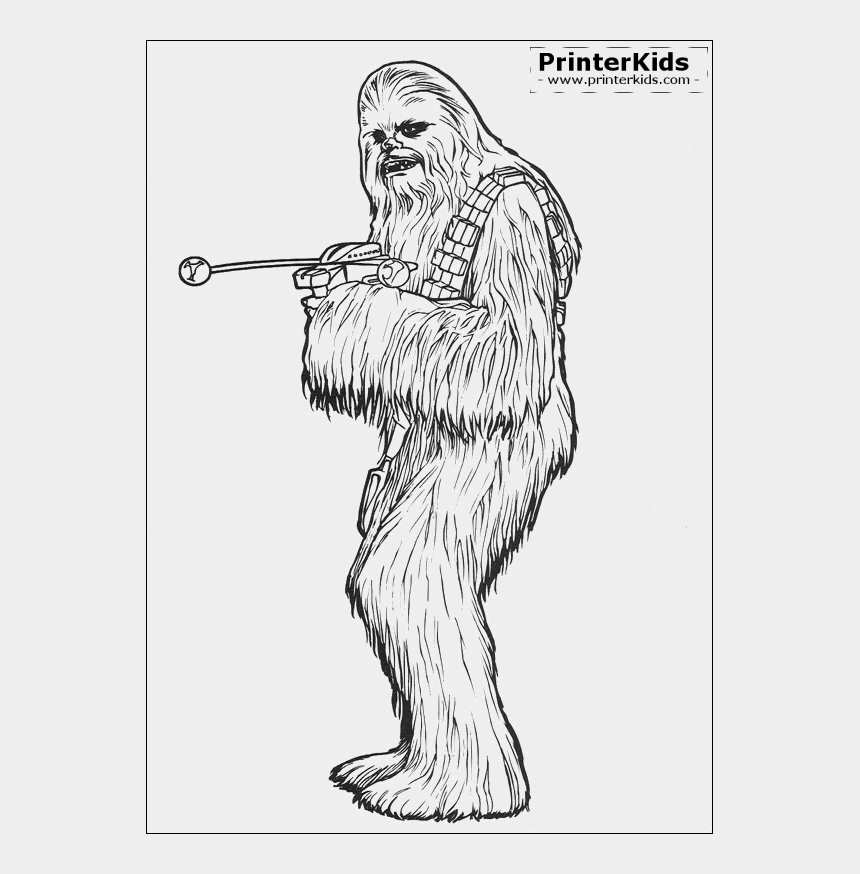 chewbacca clipart, Cartoons - Chewbacca Is A Character From The Saga Star Wars Coloring - Star Wars Coloring Pages