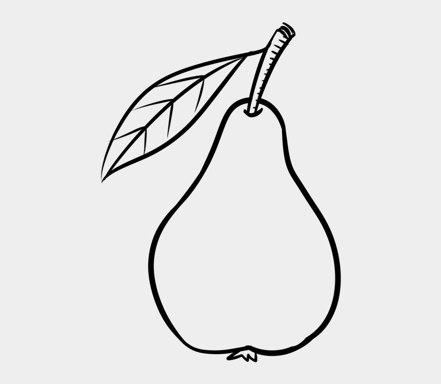 Pear Fruit The Stroke, Food Drink - Pear Fruit Clipart Black