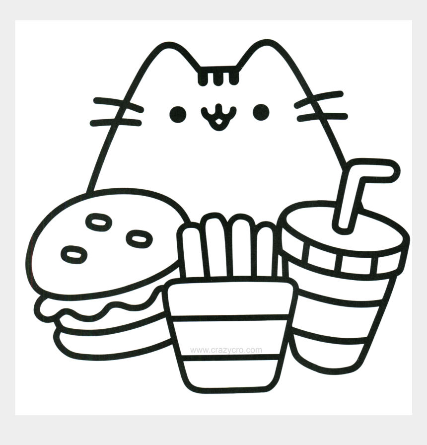 Food Coloring Page Cat With Food Coloring Page Free Cute Easy Coloring Pages Cliparts Cartoons Jing Fm
