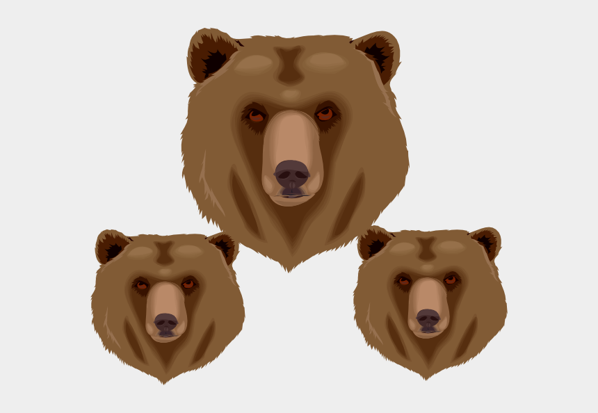 bear head clipart, Cartoons - Face Of Bear