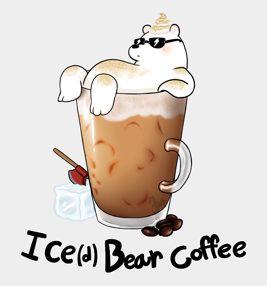 iced coffee clipart, Cartoons - Latte Clipart Iced - We Bare Bears Ice Bear Coffee