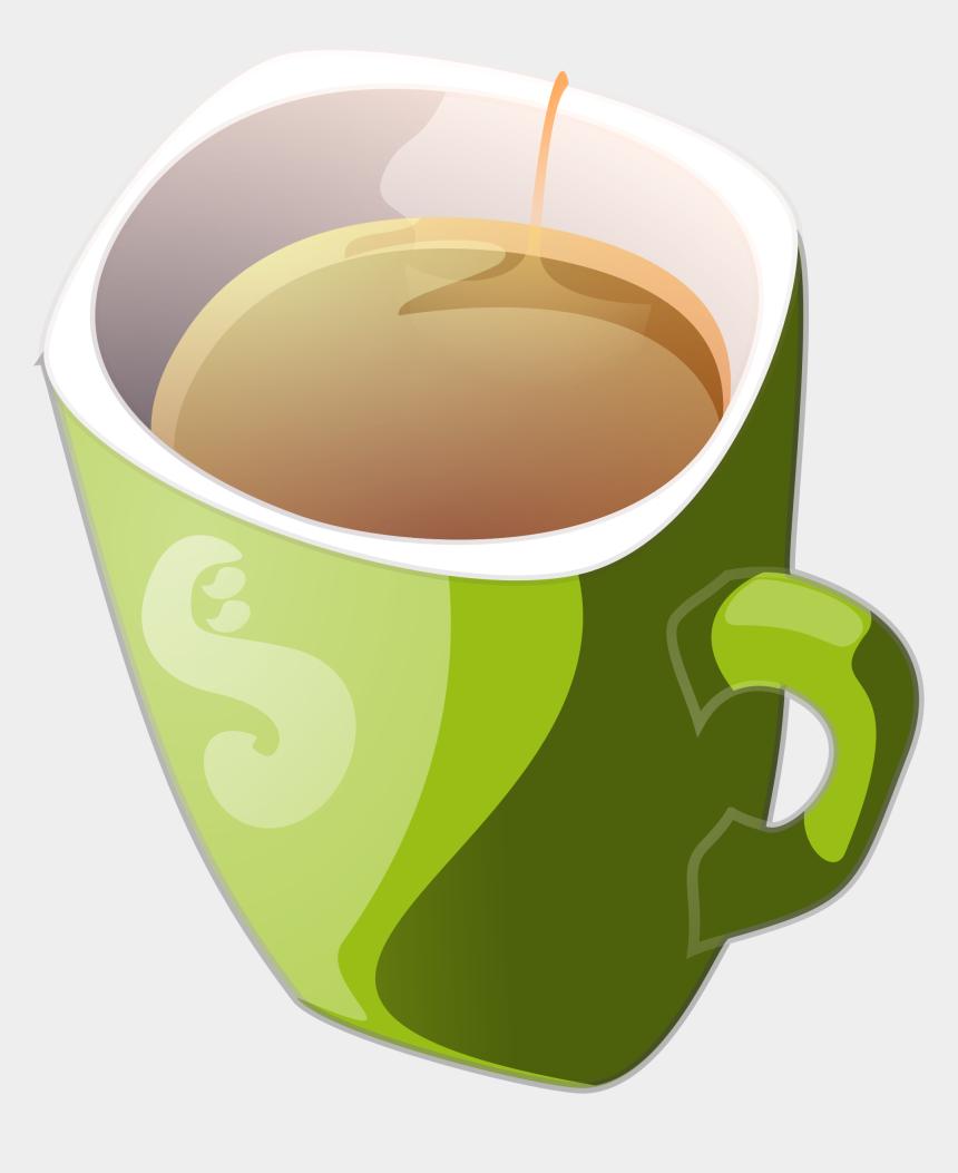 iced coffee clipart, Cartoons - Green Tea Coffee Mug Teacup - Cup Of Tea Clipart