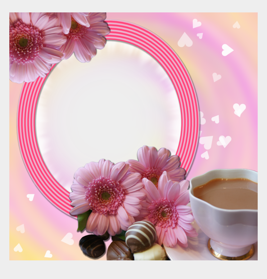 coffee morning clipart, Cartoons - Coffee And Flowers Frame By Venicet - Bible Verse Friend Good Morning