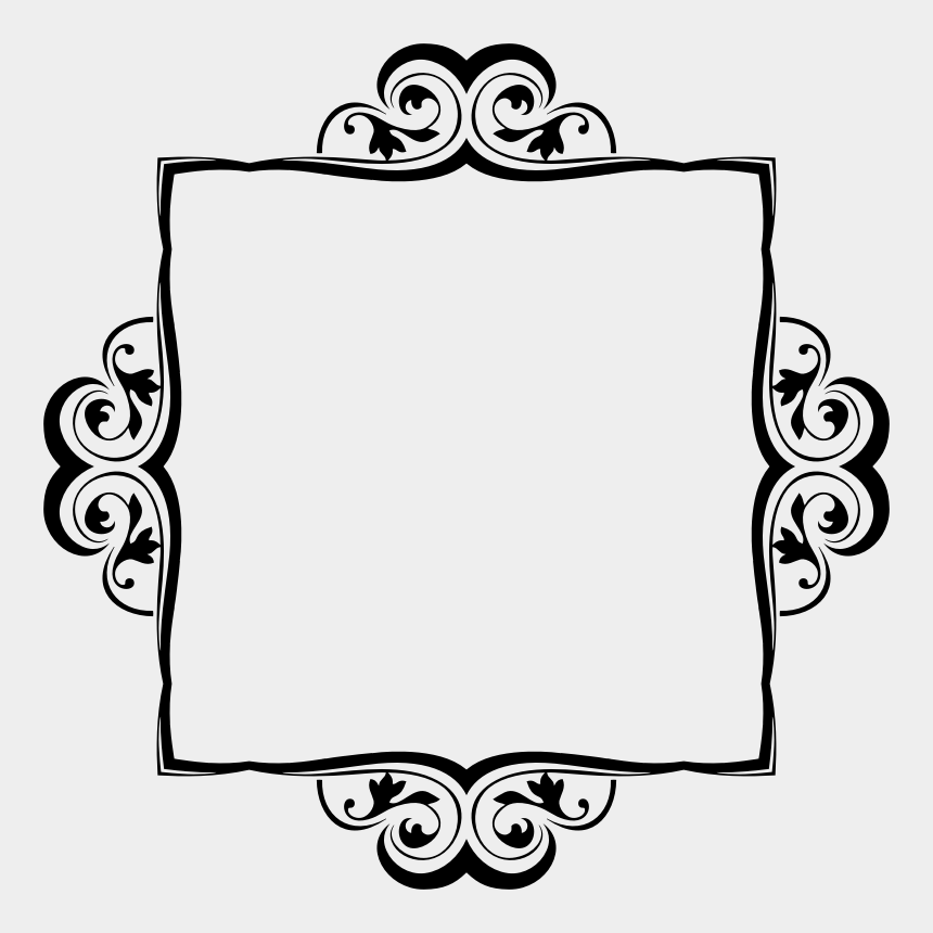 free flourish clipart, Cartoons - Flourish Ornament Silhouette Frame Vii - Portable Network Graphics